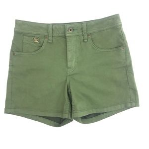 Burberry Brit Epping Military Green Shorts Size 27